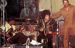 Jimi Hendrx, Ed Gregory, and Curtis Knight at Studio 76