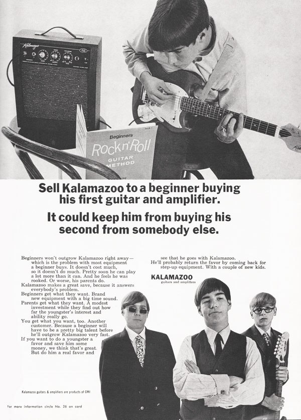 Kalamazoo advertisement (1967) Sell Kalamazoo to a beginner