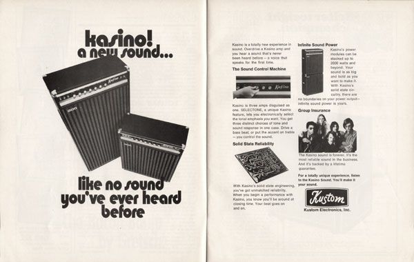 Kasino advertisement (1970) Kasino! A New Sound