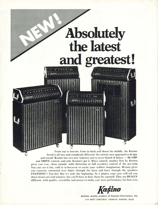 Kasino advertisement (1973) Absolutely The Latest and Greatest