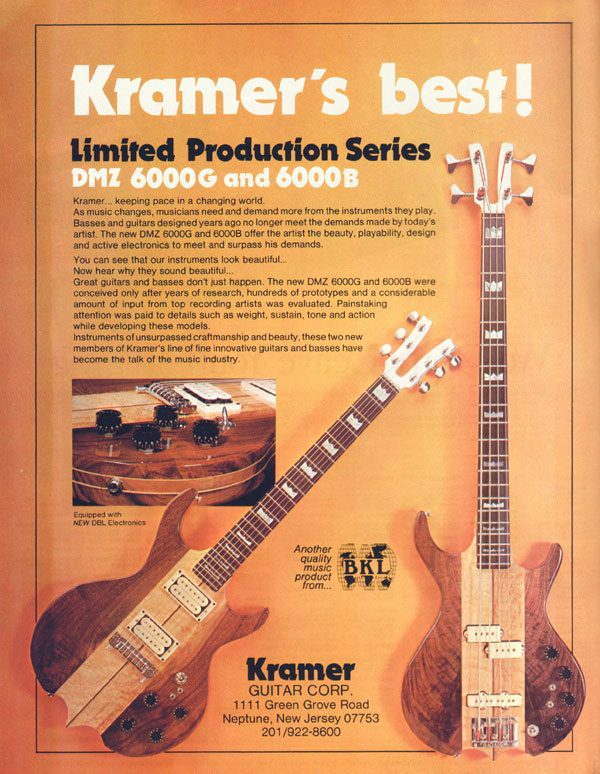 Kramer advertisement (1979) Kramers Best!
