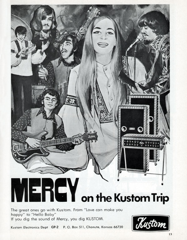 Kustom advertisement (1969) Mercy on the Kustom Trip