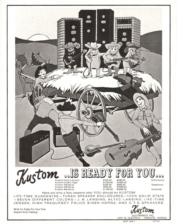 Kustom advertisement (1969) Kustom is Ready for You