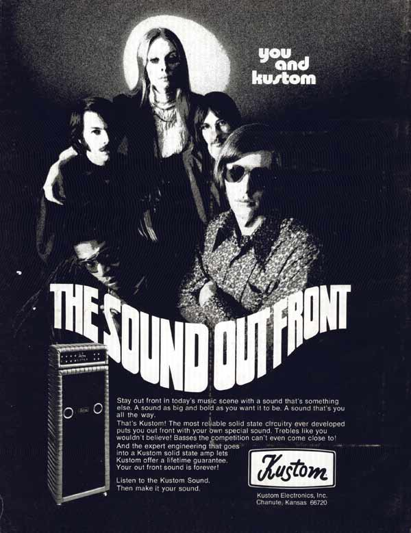 Kustom advertisement (1971) You and Kustom - The Sound Out Front