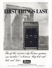 Kustom Amplifiers - First Things Last