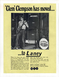 Laney Amplifiers - Clem Clempson has moved... ... to Laney