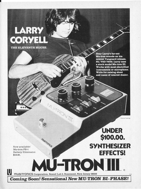 Musitronics advertisement (1972) Larry Coryell - The Eleventh House