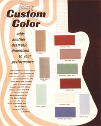 Gibson Firebird custom colour chart