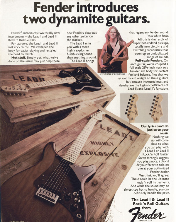 Fender advertisement (1979) Fender Introduces Two Dynamite Guitars