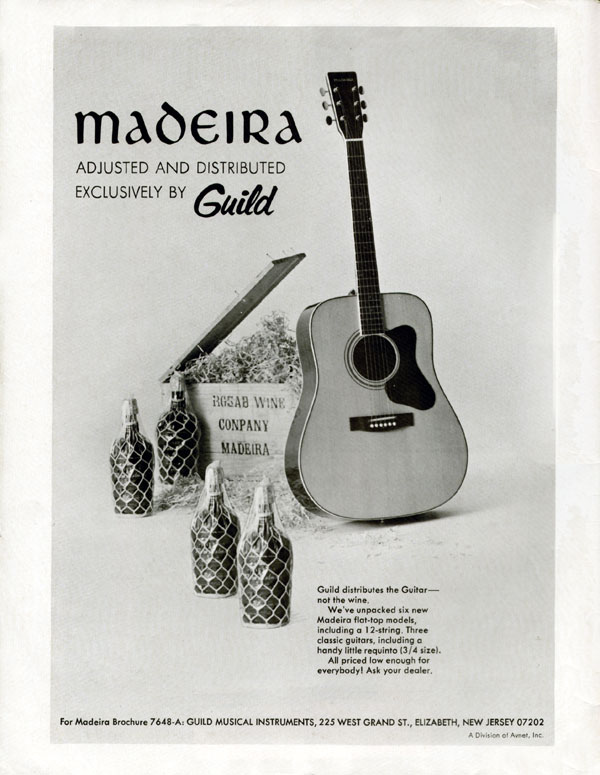 Madeira advertisement (1972) Madeira - Adjusted and Distributed Exclusively by Guild