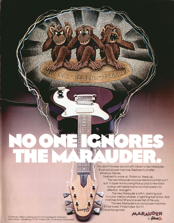 Gibson advertisement (1975) No one ignores the Marauder
