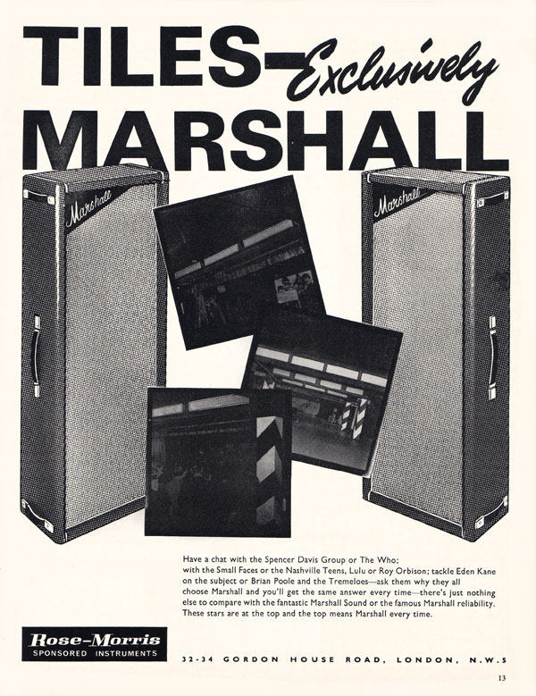 Marshall advertisement (1966) Tiles - exclusively Marshall