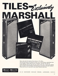 Marshall Amplifiers - Tiles - exclusively Marshall