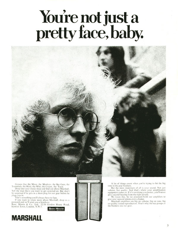 Marshall advertisement (1969) You