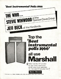 Marshall Amplifiers - Beat Instrumental Polls 1966