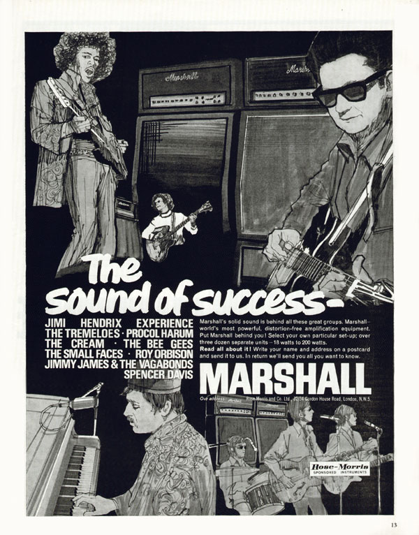 Marshall advertisement (1967) The Sound Of Sucess