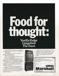 Marshall Amplifiers - Food For Thought. Vanilla Fudge. Grapefruit. The Toast.