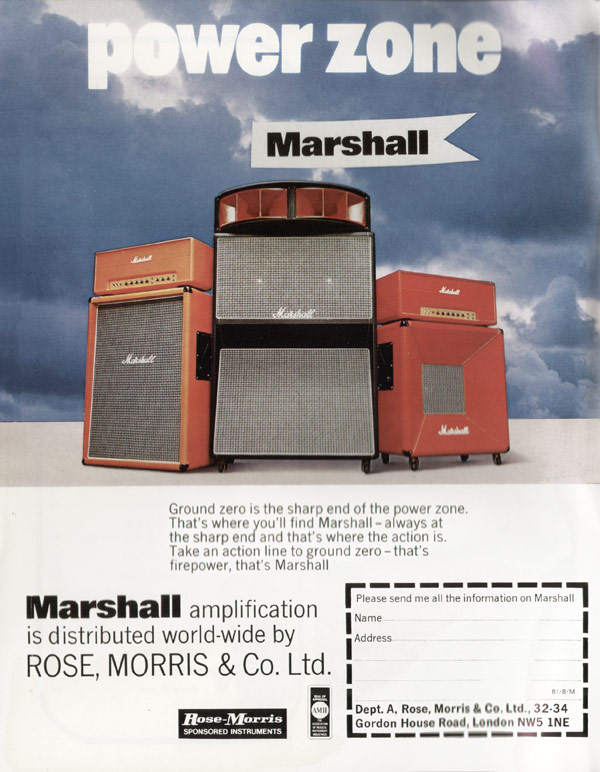 Marshall advertisement (1973) Power Zone