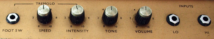 1972 Marshall Mercury control detail