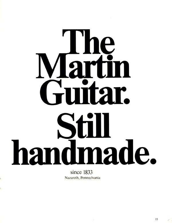 Martin advertisement (1973) The Martin Guitar. Still Hand Made