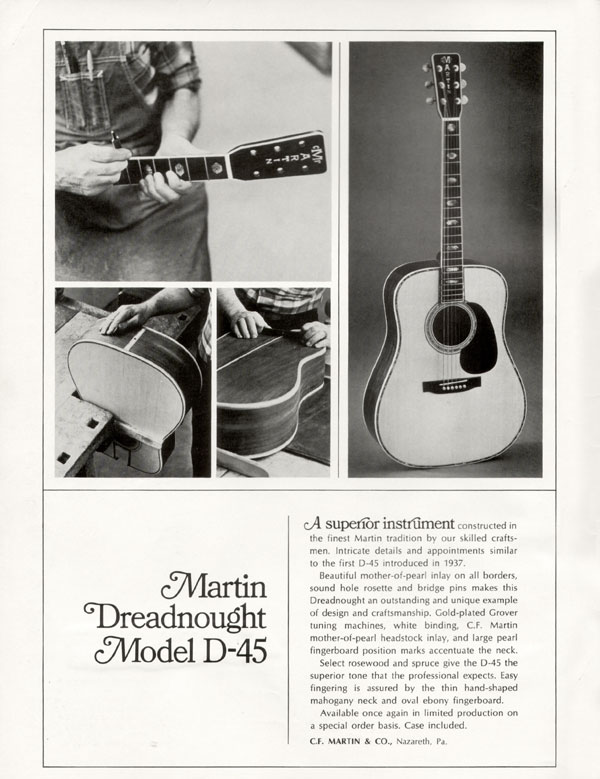Martin advertisement (1969) Martin Dreadnought Model D-45