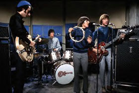 Peter Tork of the Monkees playing a Gretsch 6073