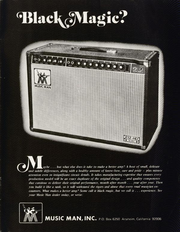 Music Man advertisement (1975) Black Magic?