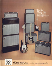 Music Man amplifiers - For The Music Man Who Hears The Difference
