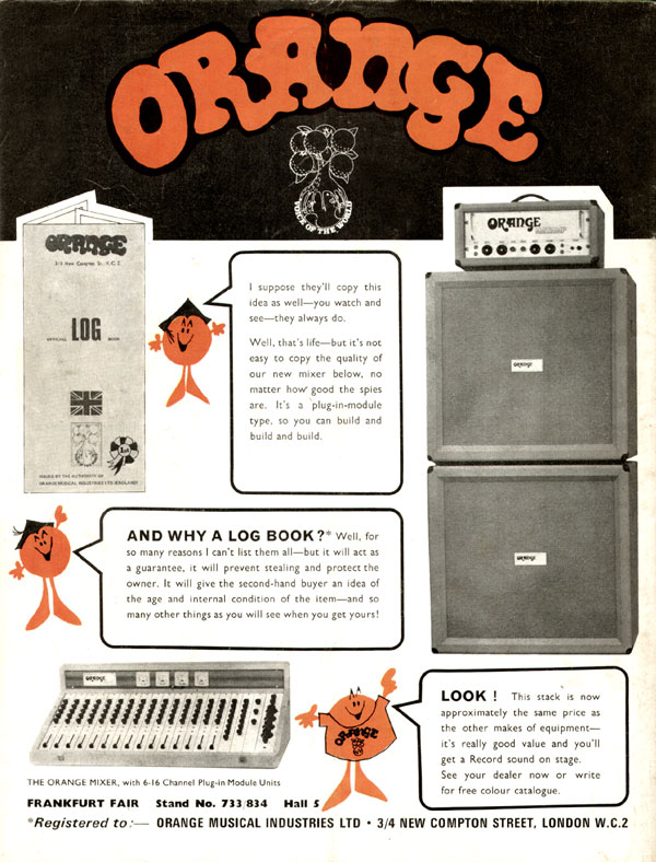 Orange advertisement (1971) Orange