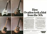 Ovation Viper - How Ovation took a hint from the 50s