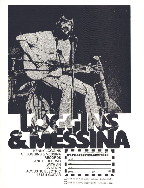 Ovation advertisement (1974) Loggins and Messina
