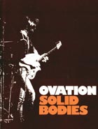 Ovation 1975 solid-body catalogue