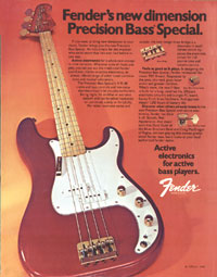 Fender Precision - Fenders new dimension Precision Bass Special