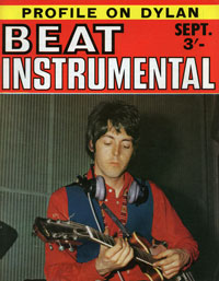 Paul McCartney playing his right handed Casino strung lefty