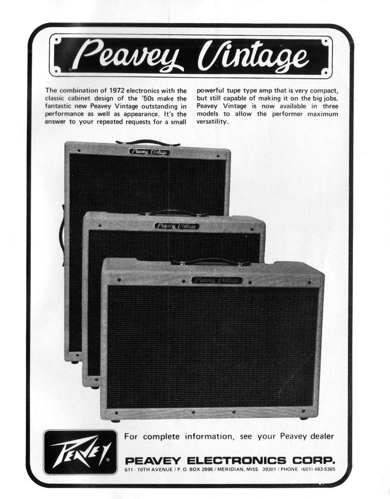 Peavey advertisement (1972) Peavey Vintage