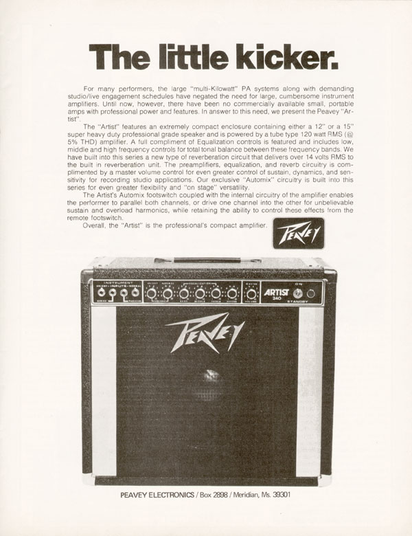 Peavey advertisement (1975) The Little Kicker