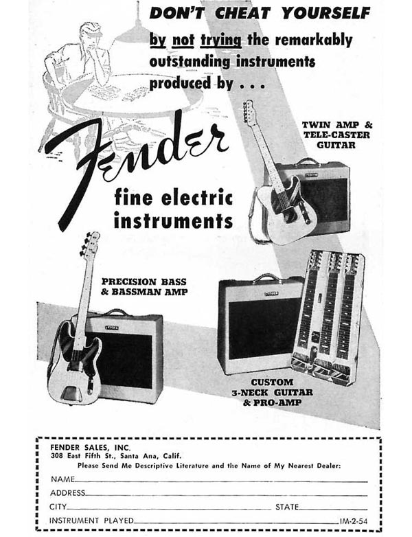 Fender advertisement (1953) Don