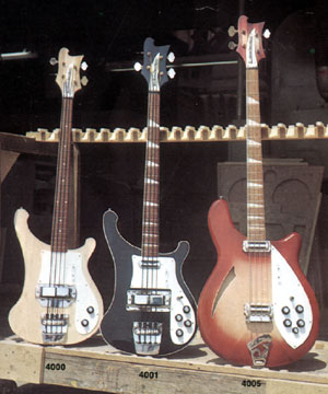 4000 4001 and 4005 basses from the 1968 Rickenbacker catalogue