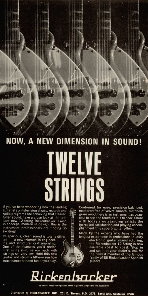 Rickenbacker advertisement (1967) Now A New Dimension In Sound! Twelve Strings
