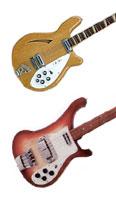 Rickenbacker 4005 and 4001 bass guitars