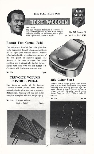 1960 Selmer guitar and bass catalogue page 26