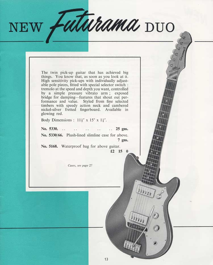 1964 Selmer Catalogue page 13 - Futurama Duo