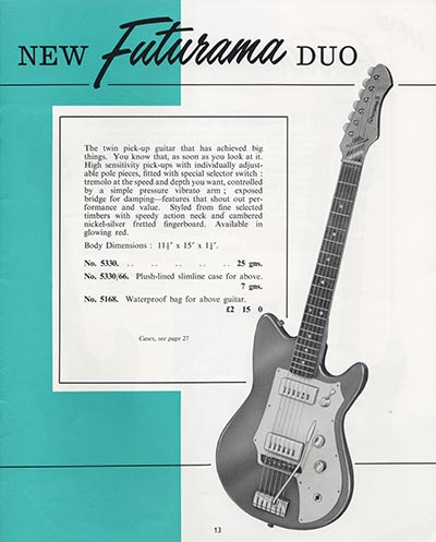1964 Selmer guitar and bass catalogue page 13