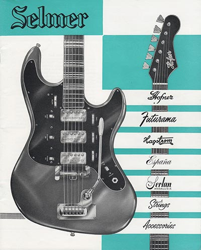 1964 Selmer guitar and bass catalogue cover