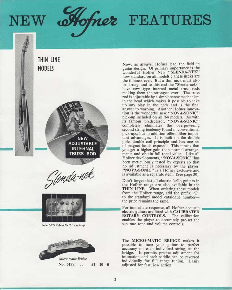1964 Selmer Catalogue page 2