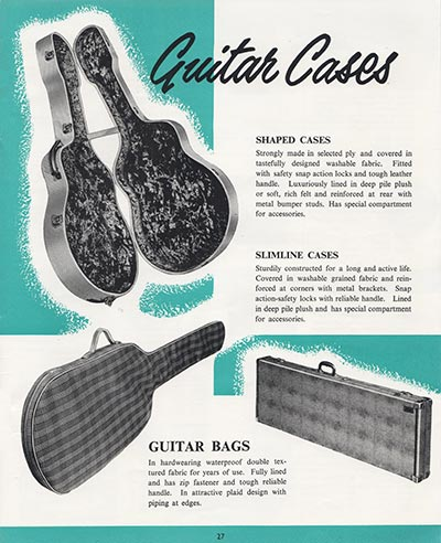 1964 Selmer guitar and bass catalogue page 27