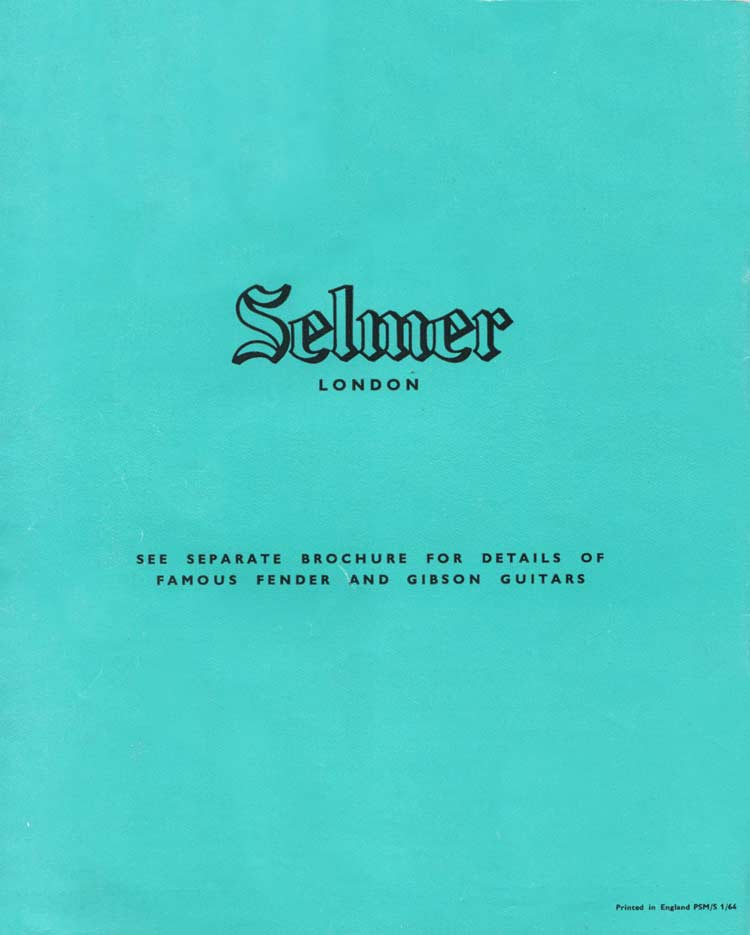 1964 Selmer Catalogue page 32 - back cover