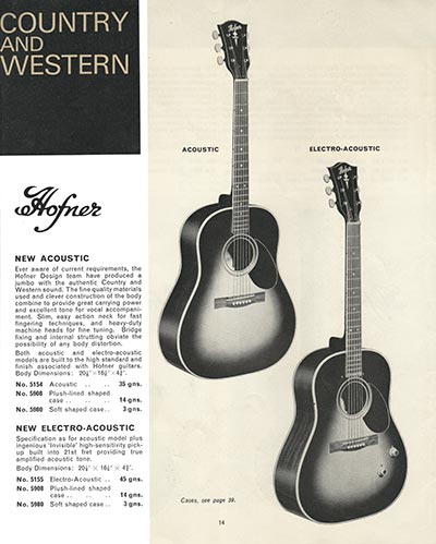 1966 Selmer guitar and bass catalogue page 14