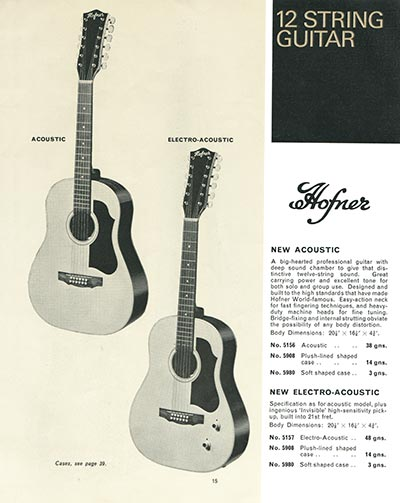 1966 Selmer guitar and bass catalogue page 15