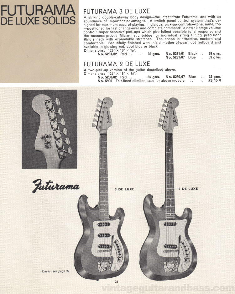 1966 Selmer Catalogue page 22, Futurama De Luxe